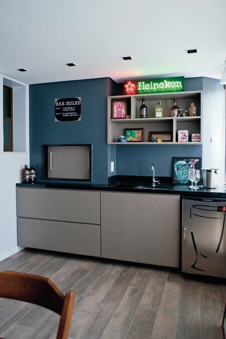 Apartamento MGT Maxma Studio Varandas, alpendres e terraços modernos