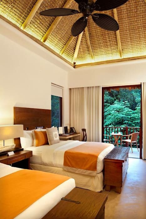Hotel Matlali Selva: Recámaras de estilo topical por BR  ARQUITECTOS