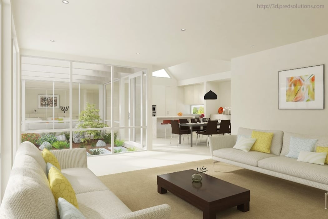 3D Living Room Visualization from Pred Solutions Modern living room by Pred Solutions Modern