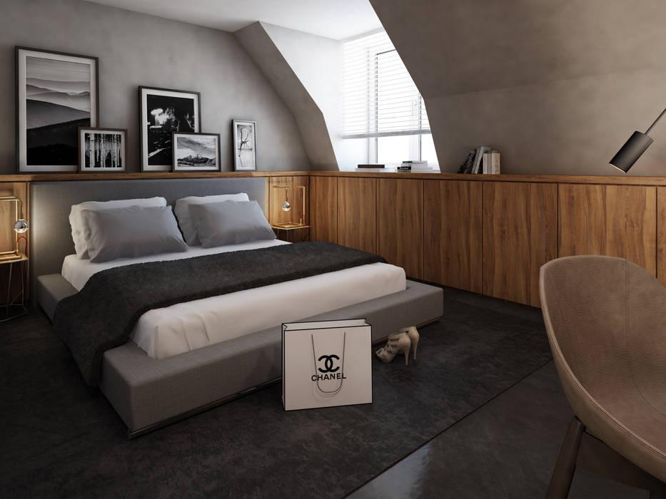 Wohnung in münchen: moderne schlafzimmer von winhard 3d | homify