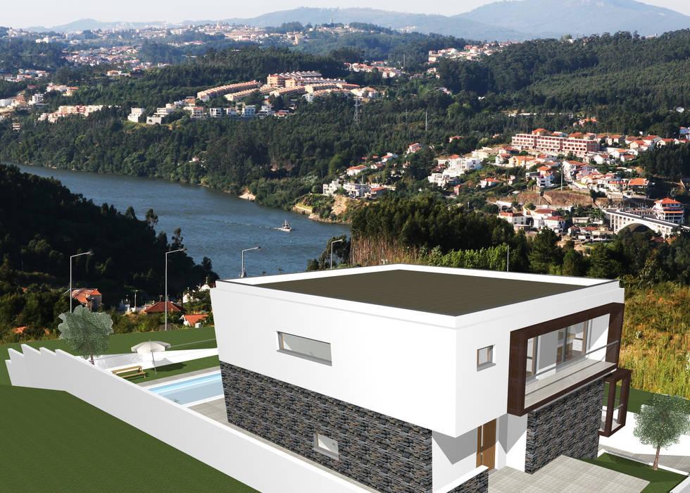 Moradia isolada com 4 Frentes- Olival- Vila Nova de Gaia- Porto por Bati-Vale Construções Lda Moderno