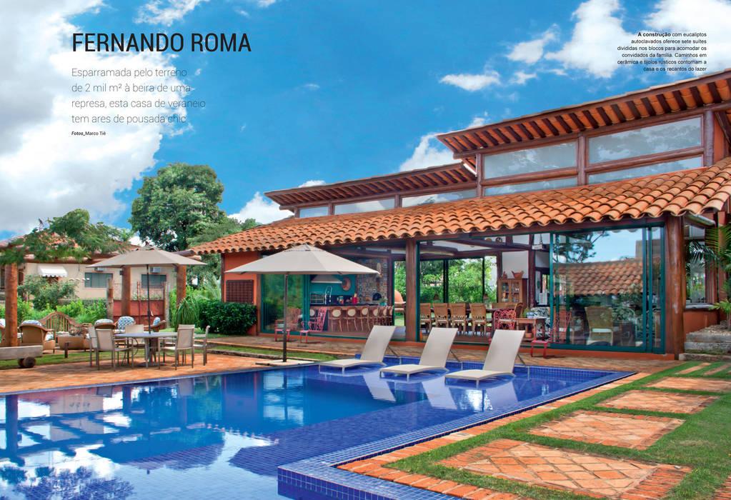 Residencia Enseada Azul Casas tropicais por FERNANDO ROMA . estudioROMA Tropical