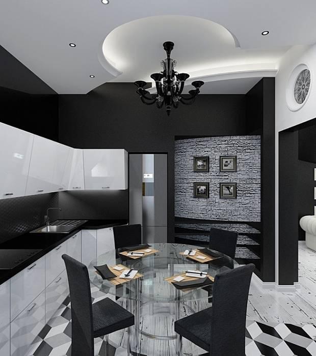Eclectic interior in a row house: Кухни в . Автор – Alena Gorskaya Design Studio, Эклектичный