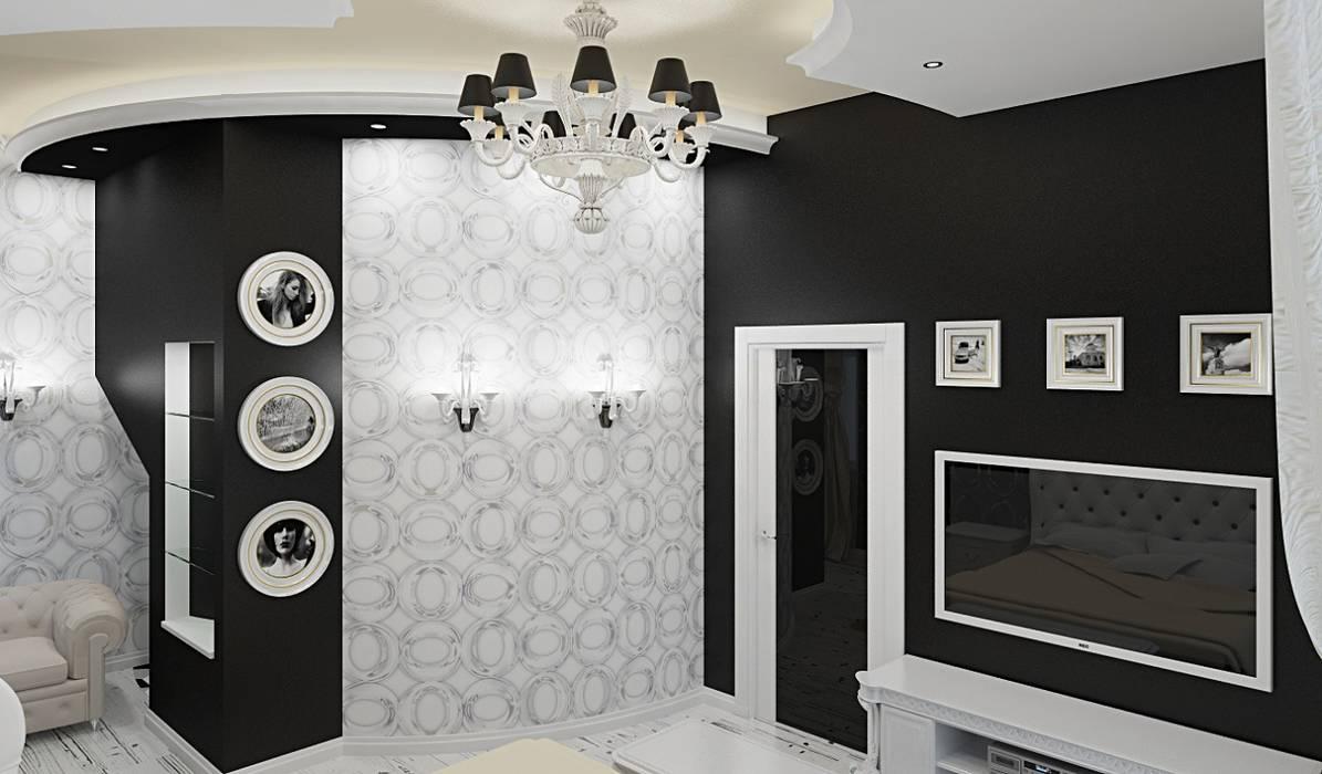 Eclectic interior in a row house: Спальни в . Автор – Alena Gorskaya Design Studio, Эклектичный