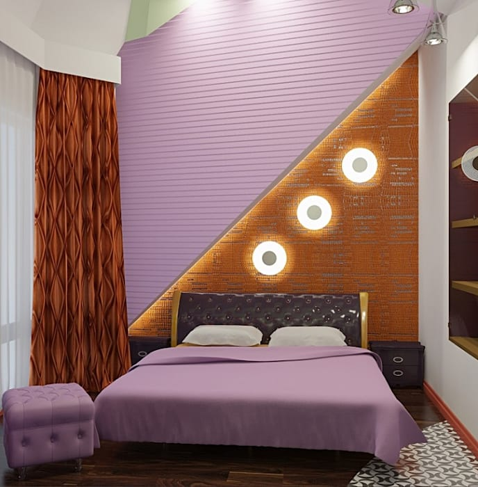Eclectic style bedroom by Alena Gorskaya Design Studio Eclectic