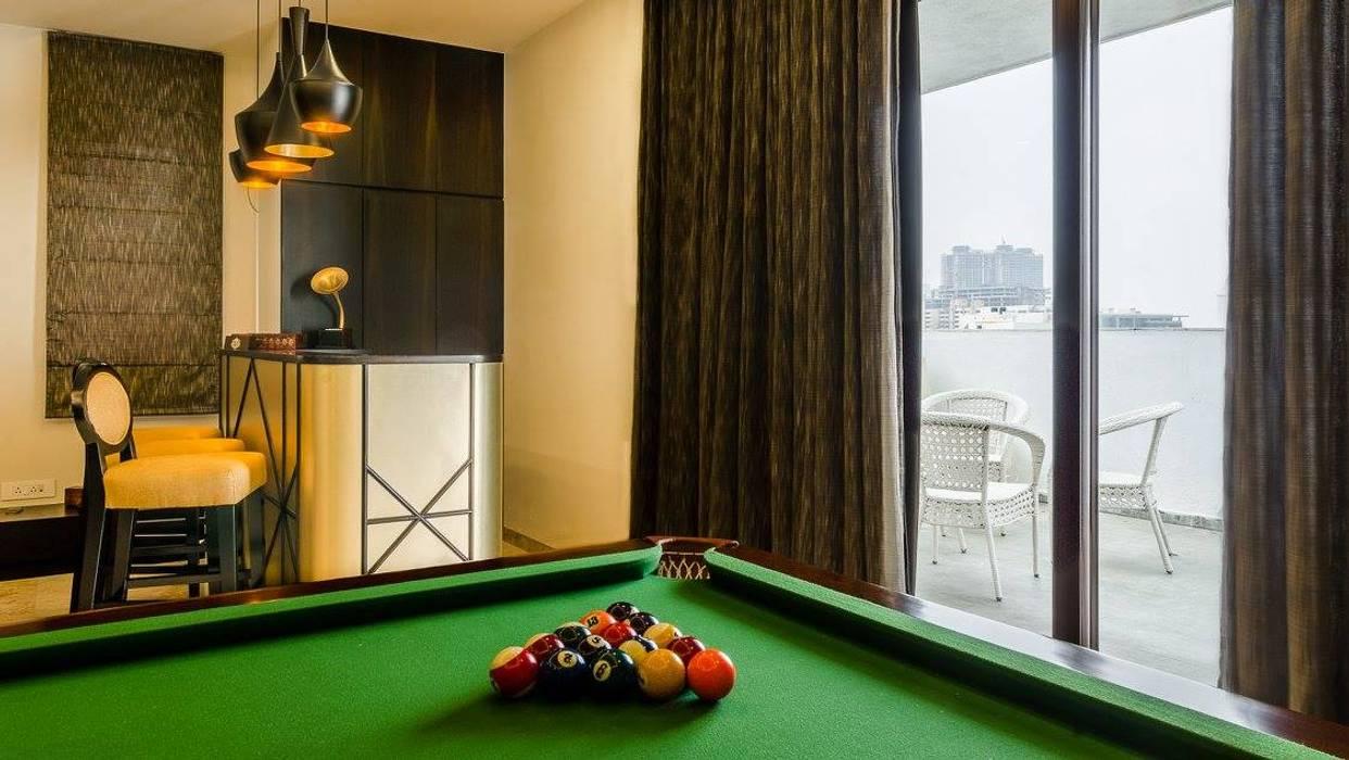 Salas multimedia de estilo moderno de In-situ Design Moderno