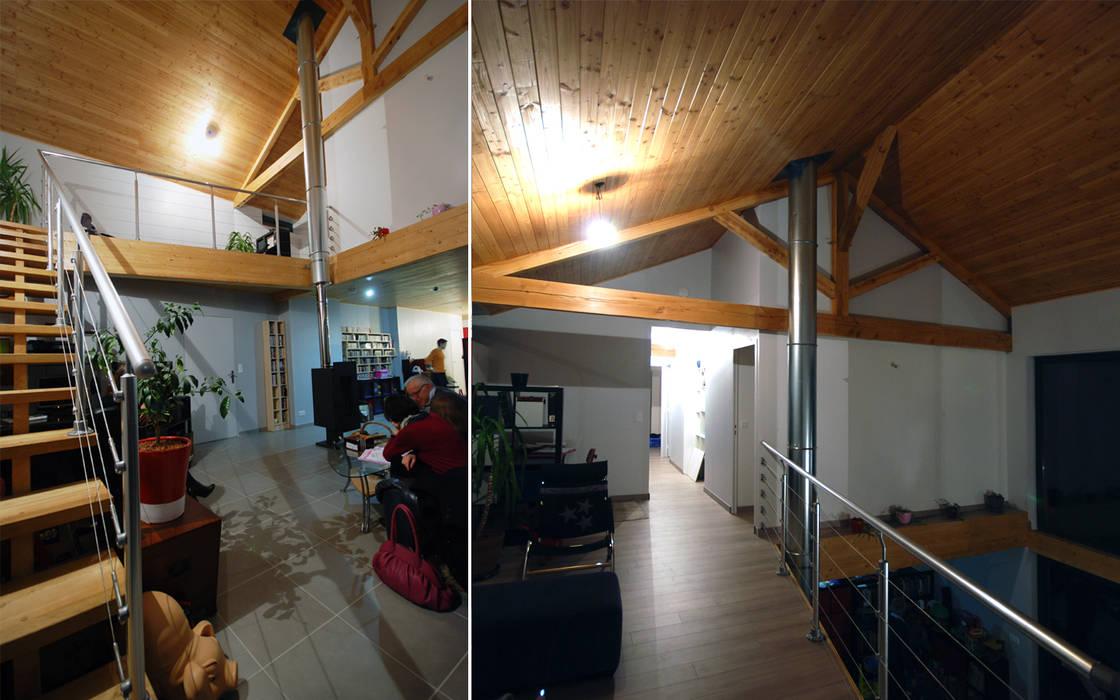 Séjour: Couloir et hall d'entrée de style  par archipente