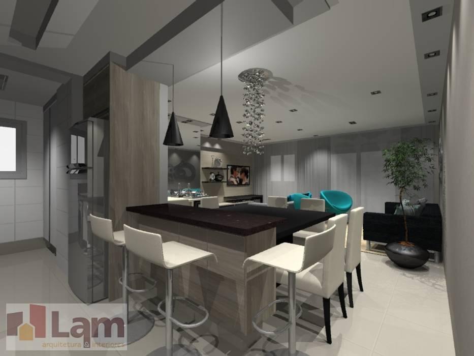 Cozinha Integrada com a Sala - Projeto Cozinhas modernas por LAM Arquitetura | Interiores Moderno