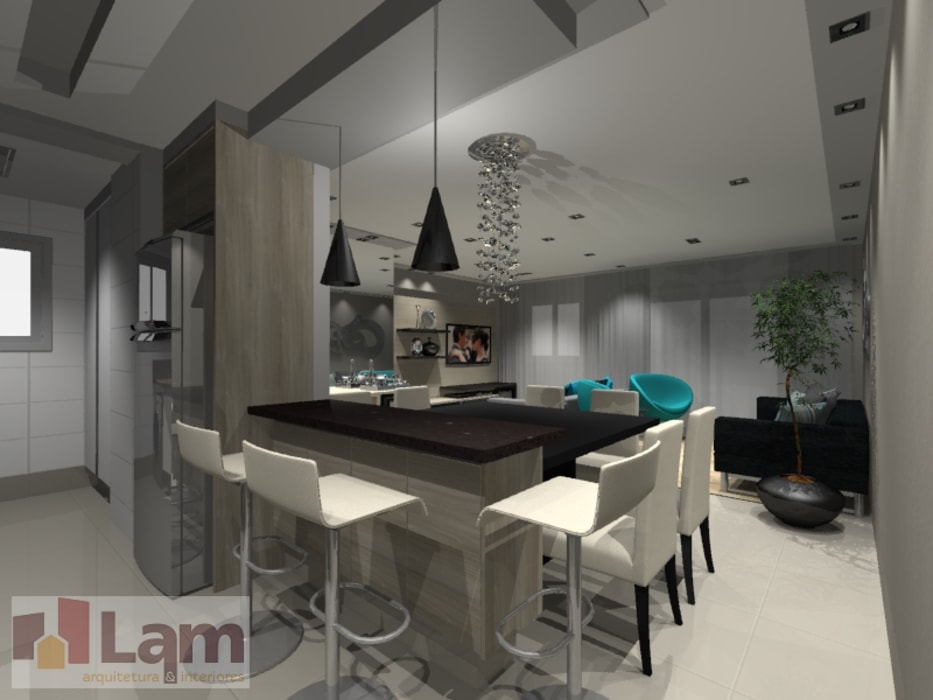 Cocinas de estilo moderno de LAM Arquitetura | Interiores Moderno