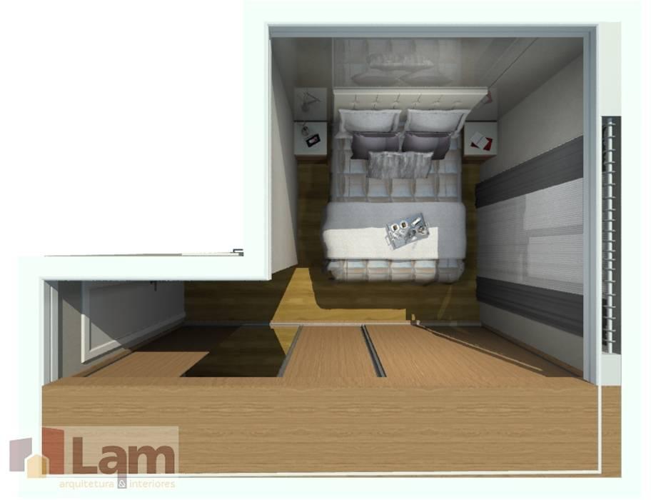 Dormitorios de estilo moderno de LAM Arquitetura   Interiores Moderno