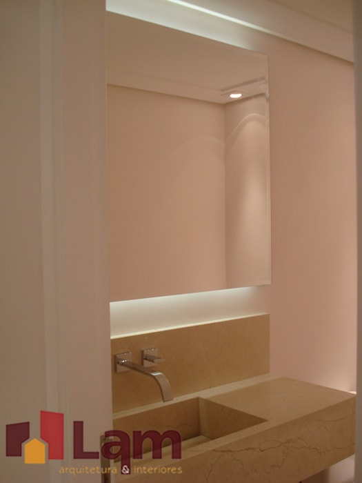 Banheiro - Obra Banheiros modernos por LAM Arquitetura | Interiores Moderno