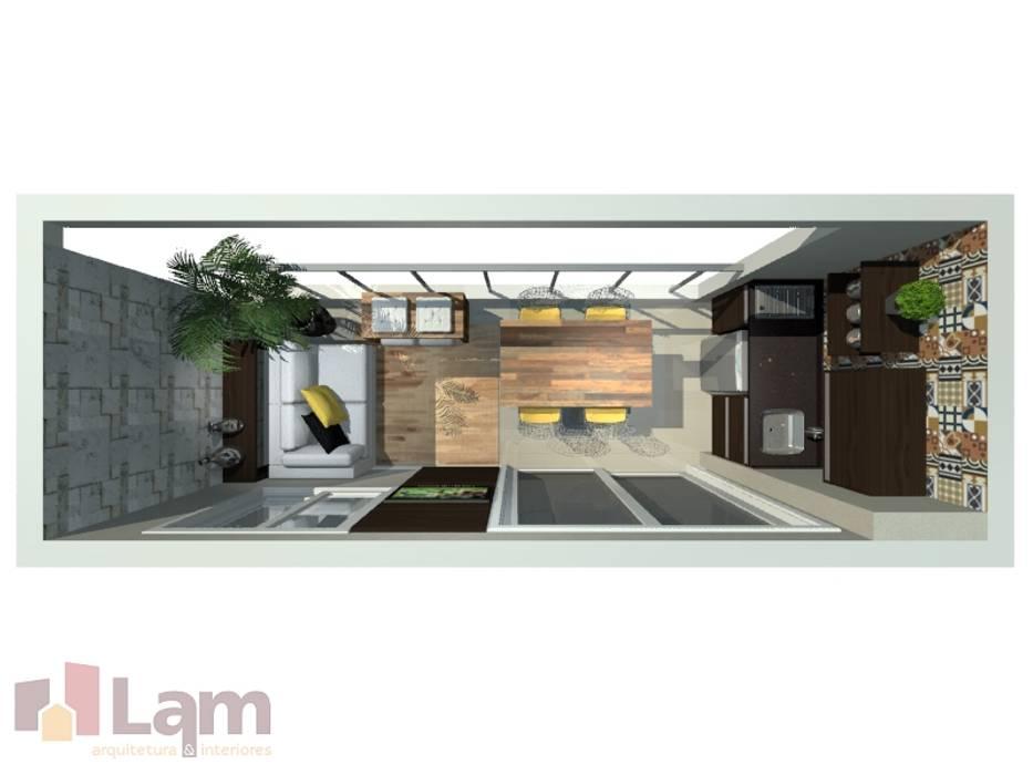 Balcones y terrazas modernos de LAM Arquitetura   Interiores Moderno