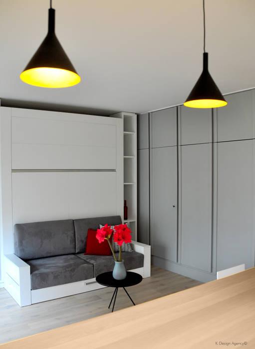 """Le Salon & La chambre - """"2 en 1"""": Chambre de style de style Scandinave par K Design Agency"""