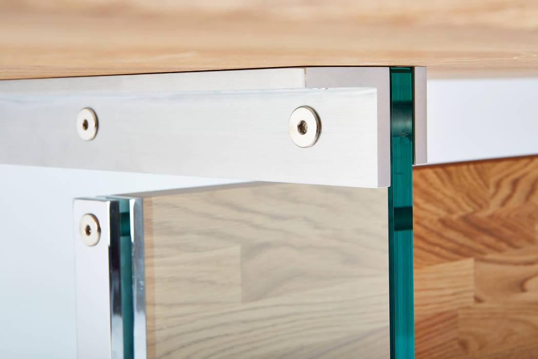 Decorus Eiche Hell Detail Mit Glaswange Esszimmer Von Rose Handwerk