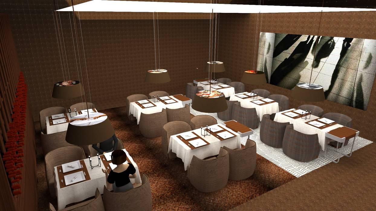 Restaurante & Bar Espaços de restauração modernos por IDesign.art by Paula Gouveia Moderno