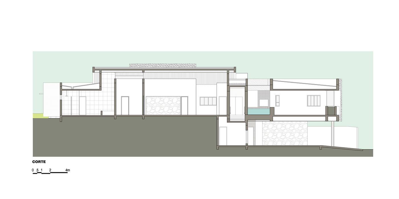 Tường & sàn phong cách hiện đại bởi grupo pr | arquitetura e design Hiện đại