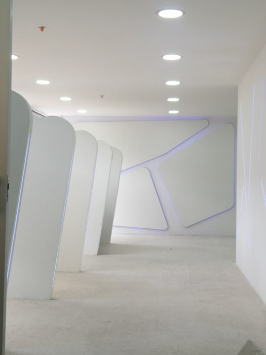 Felipe Lara & Cía Modern offices & stores Synthetic White