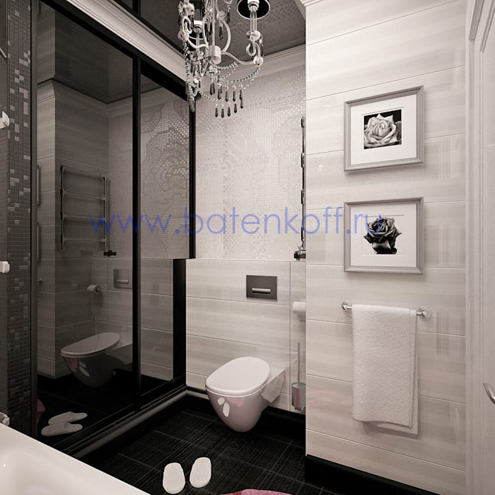 homify Classic style bathroom Glass White