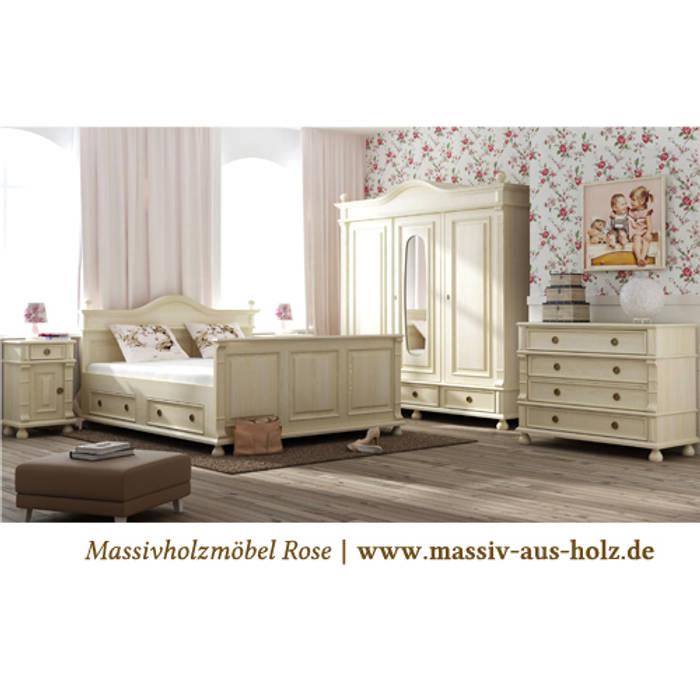 Landhausschrank im schlafzimmer: von massiv aus holz ...