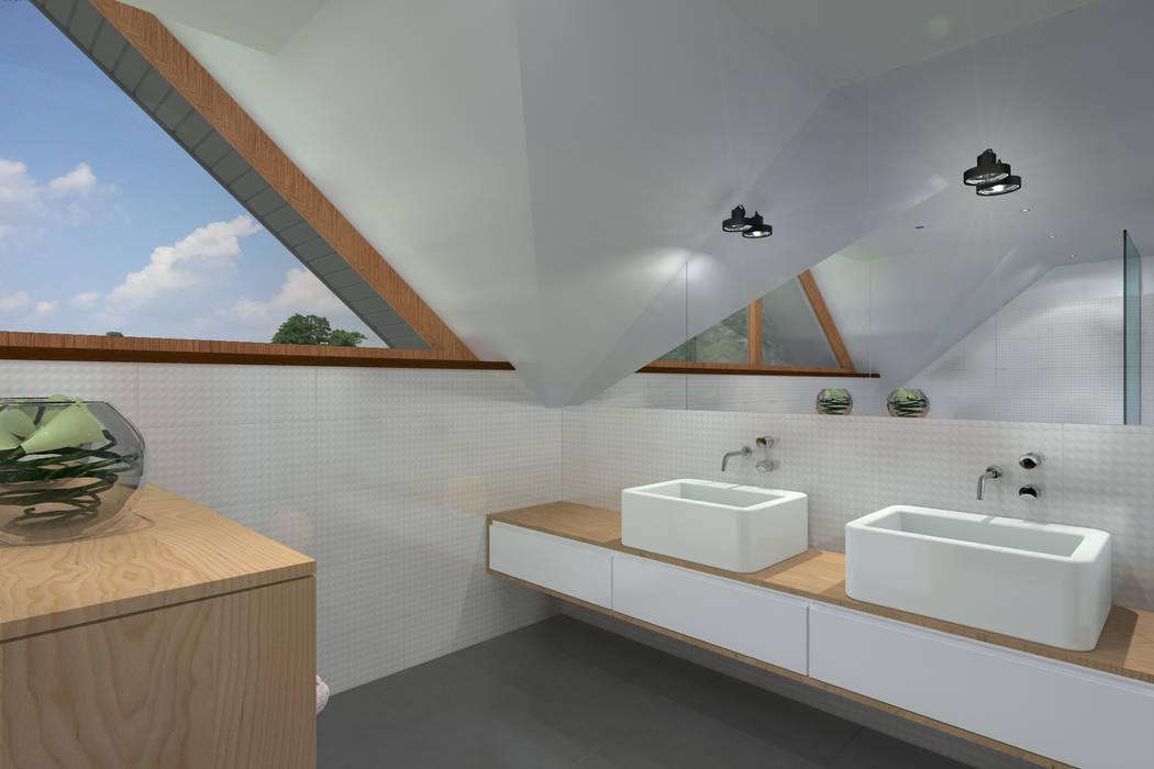 Przebudowa domu w Rybniku Nowoczesna łazienka od ABC Pracownia Projektowa Bożena Nosiła Nowoczesny