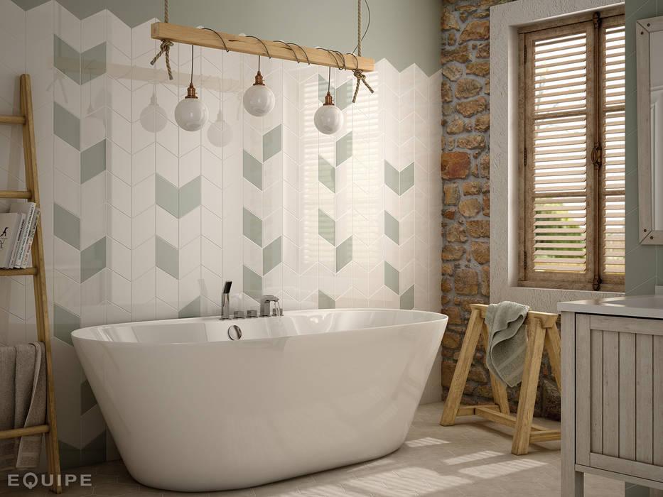 Ванная комната в рустикальном стиле от Equipe Ceramicas Рустикальный Керамика