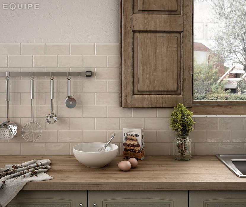 Cottage Cream 7,5x15 Cocinas rústicas de Equipe Ceramicas Rústico Cerámico