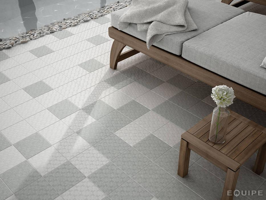Area 15 White, Grey 15x15: Spa de estilo  de Equipe Ceramicas, Minimalista