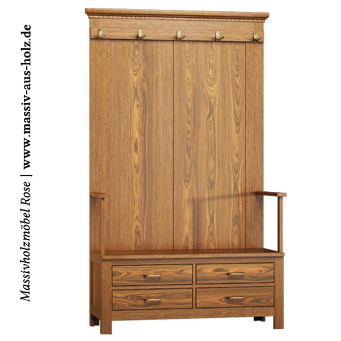 Garderobe massivholz & klassisch: flur, diele & treppenhaus von ...