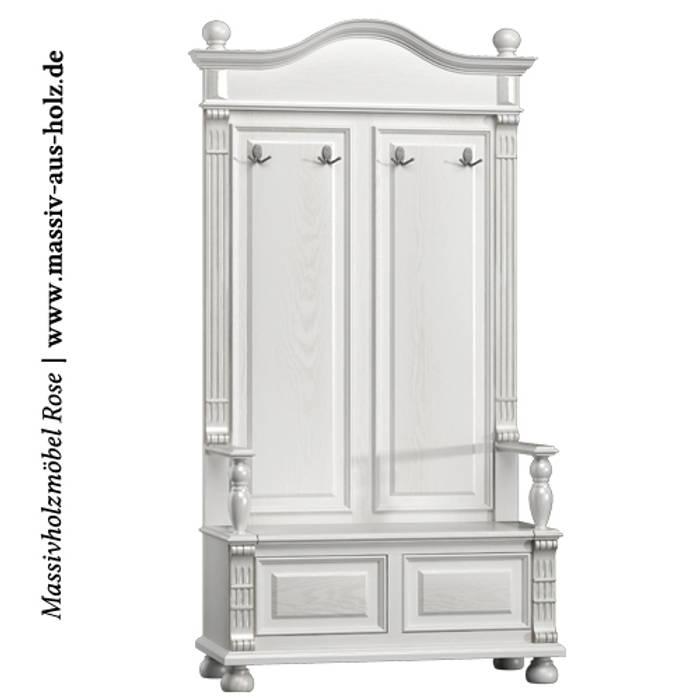 Garderobe Weiß Massiv Von Massiv Aus Holz Skandinavisch