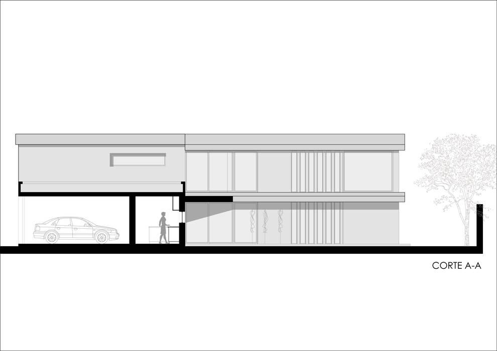 Casas de estilo  por Ronda Estudio
