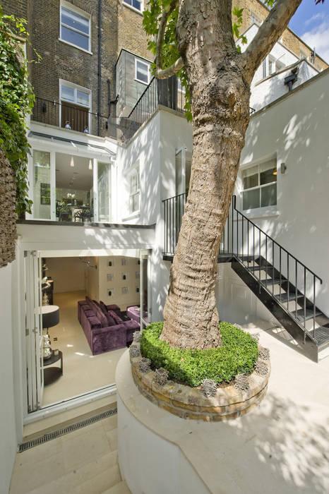 Garden area at Chester Street House by Nash Baker Architects Ltd Класичний