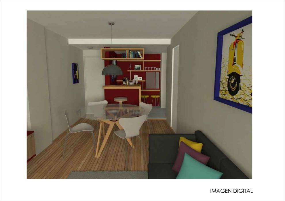 Ruang Makan Modern Oleh Ronda Estudio Modern