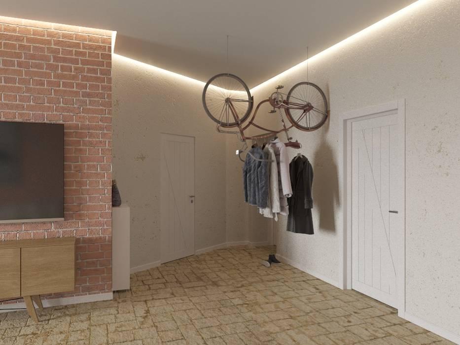 Couloir, entrée, escaliers industriels par Tatiana Zaitseva Design Studio Industriel