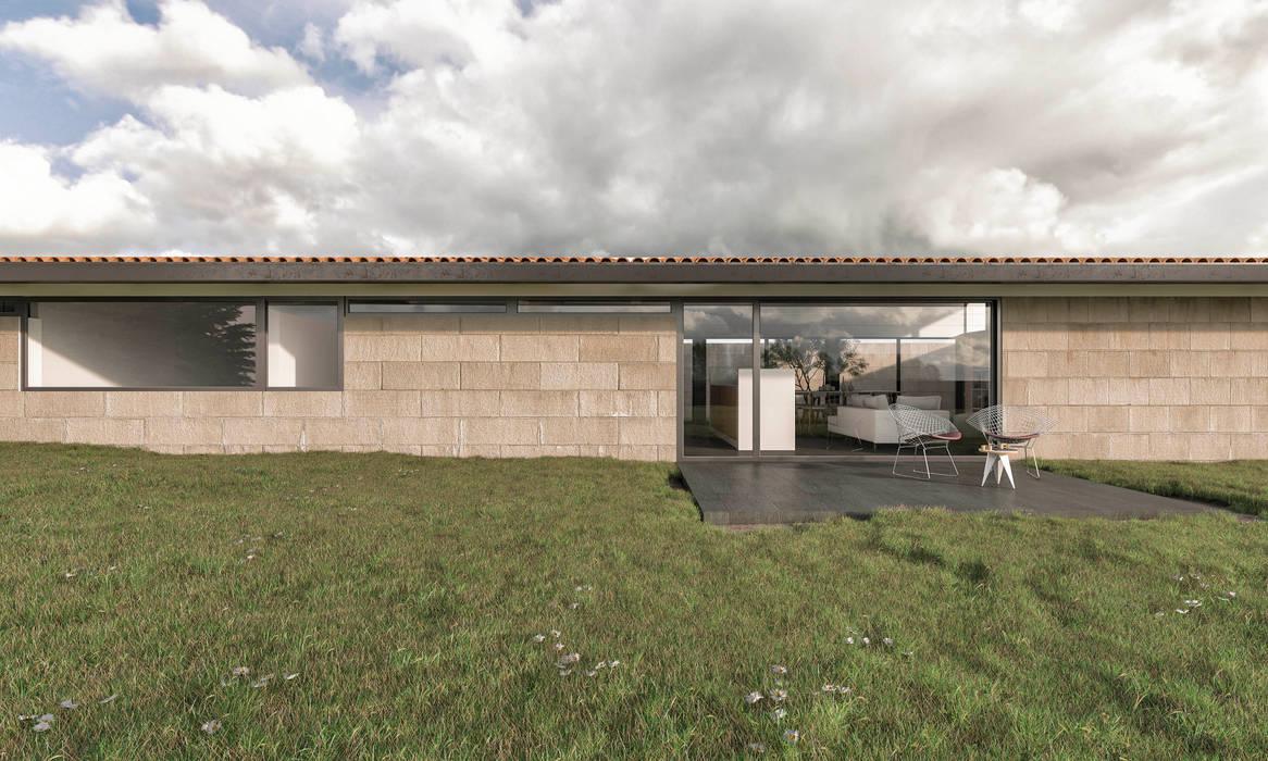 Maisons de style  par infografia 3D - arquitectura interior, Moderne Granite