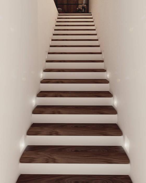 Departamento BM Pasillos, vestíbulos y escaleras modernos de Taller 03 Moderno Madera Acabado en madera