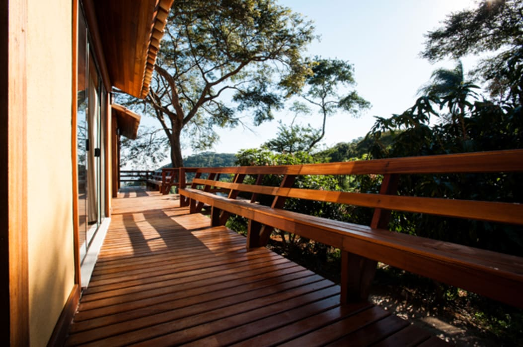 Balcones y terrazas rurales de L2 Arquitetura Rural