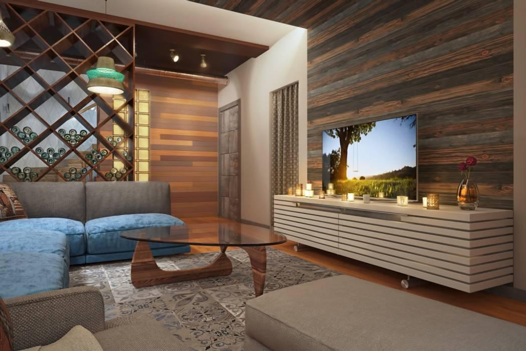 СТИЛЬНЫЕ ПРИЧУДЫ Медиа комната в стиле лофт от Дизайн студия Алёны Чекалиной Лофт