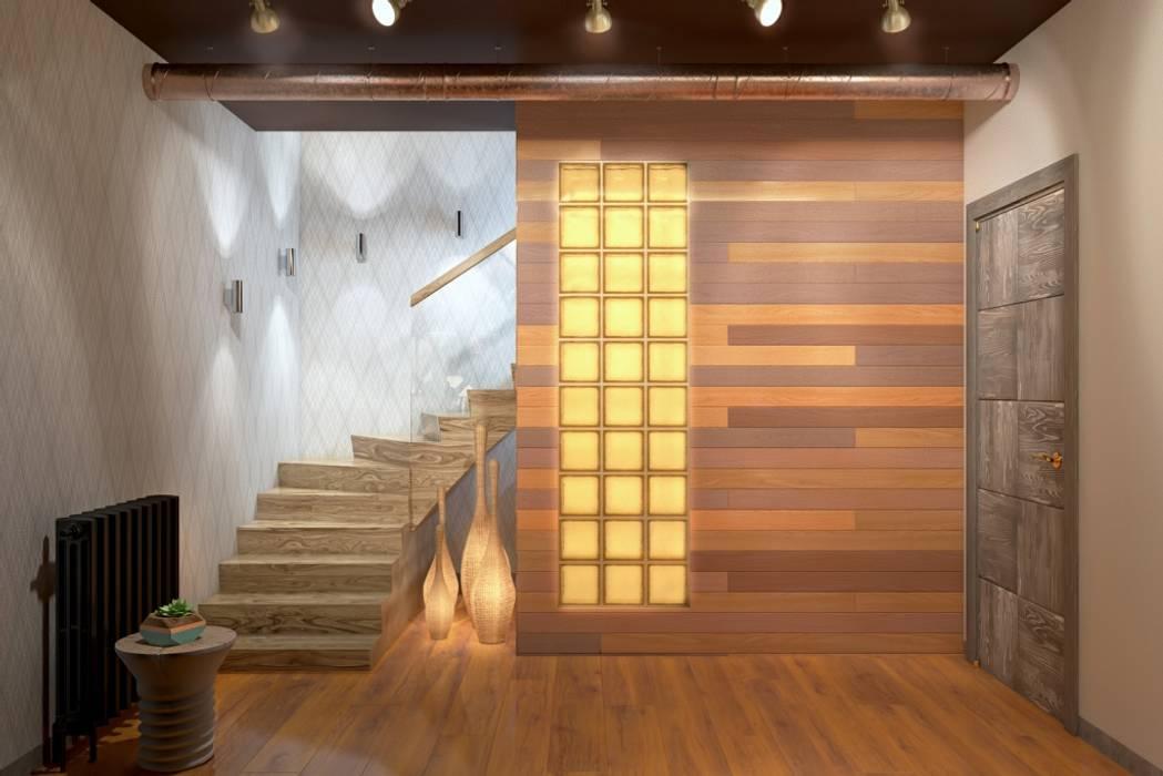 СТИЛЬНЫЕ ПРИЧУДЫ Коридор, прихожая и лестница в стиле лофт от Дизайн студия Алёны Чекалиной Лофт