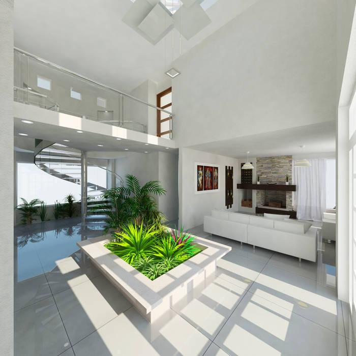 Moderner Flur, Diele & Treppenhaus von IDEA Studio Arquitectura Modern