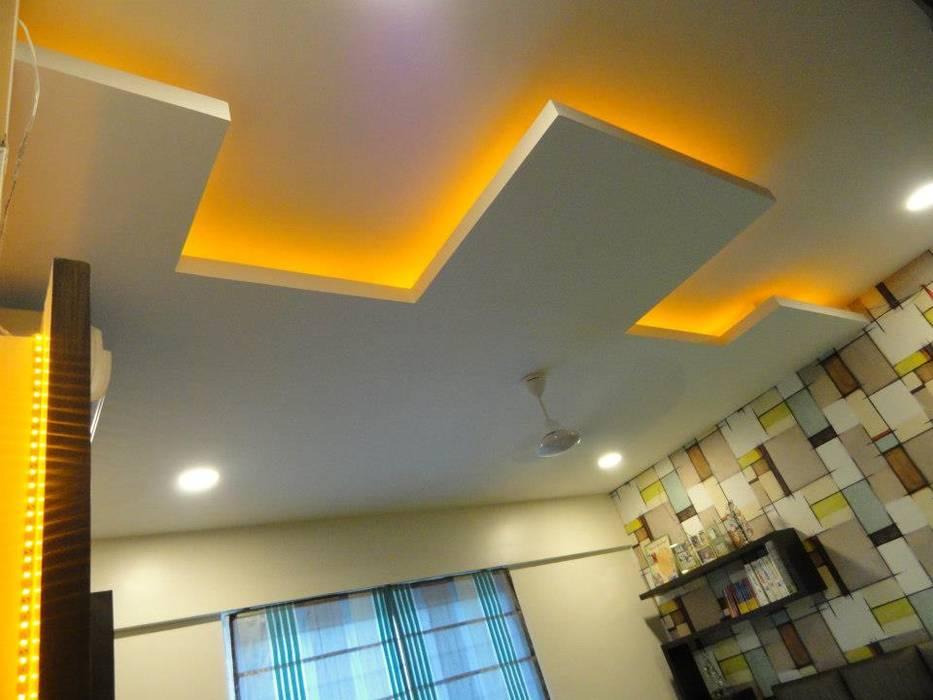 4BHK Interior Flat @Amarnora Park,Pune Modern style bedroom by SkyGreen Interior Modern