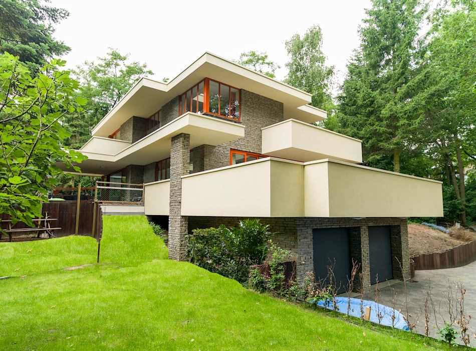STROOM architecten Casas estilo moderno: ideas, arquitectura e imágenes Beige
