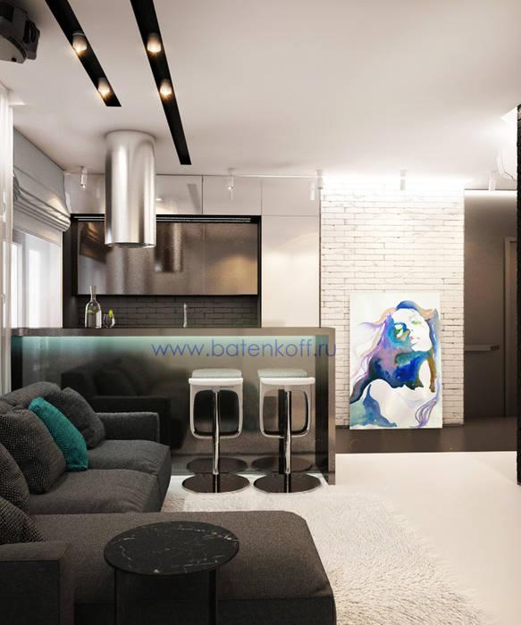 дизайн проект гостиной кухни прихожей в маленькой квартире в стиле