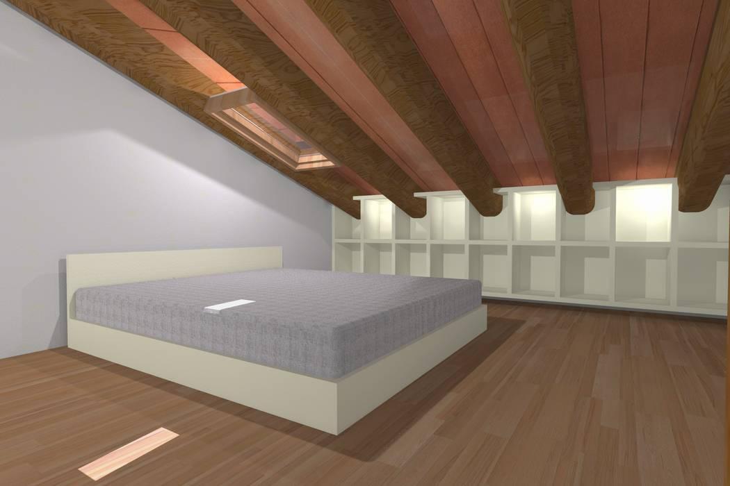 Sottotetto residenziale camera da letto moderna di ...