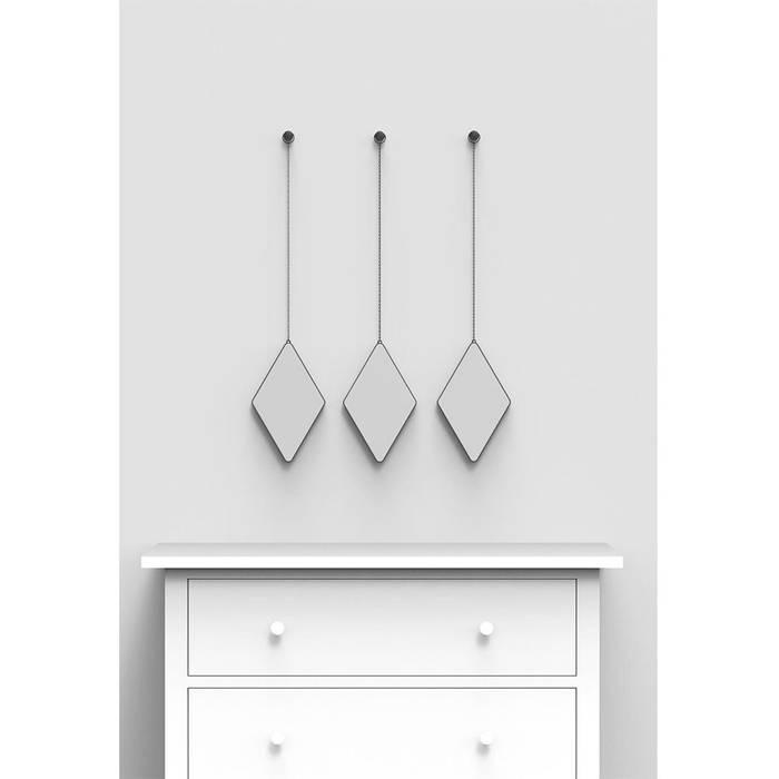 Зеркала декоративные Dima 3 шт. чёрные:  в современный. Автор – Enjoyme, Модерн