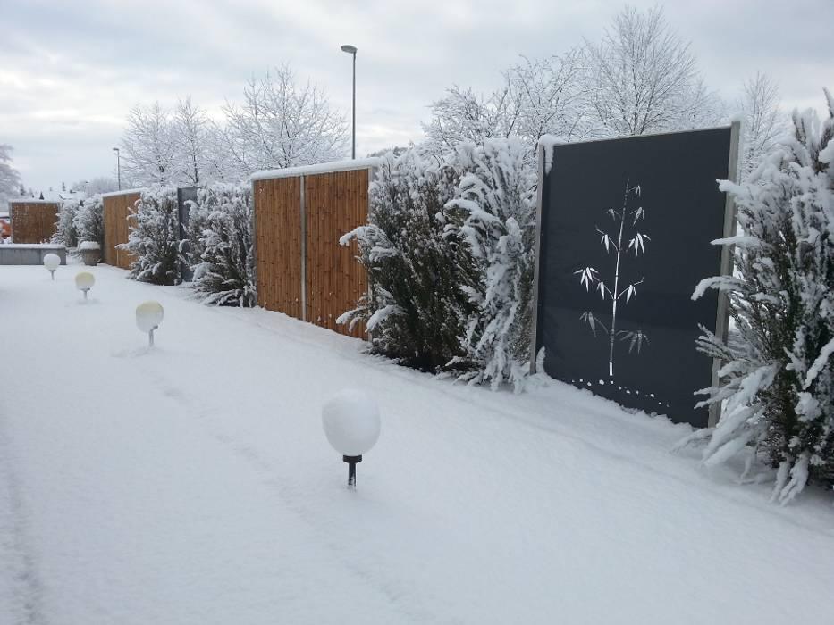 Sichtschutz Moderner Garten von Edelstahl Atelier Crouse: Modern