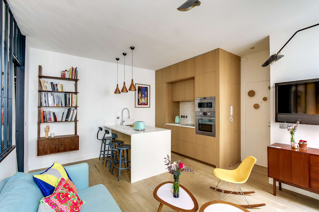 de estilo  por Transition Interior Design , Moderno Madera Acabado en madera