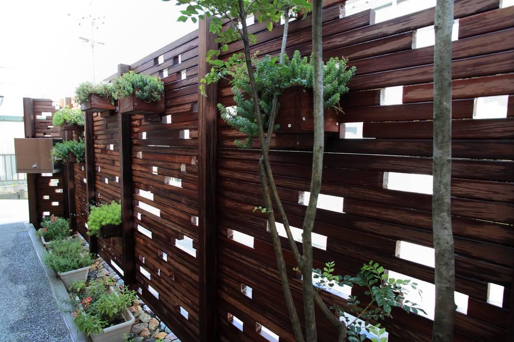 三本松でONな庭 - 写真11: 平山庭店が手掛けた折衷的なです。,オリジナル