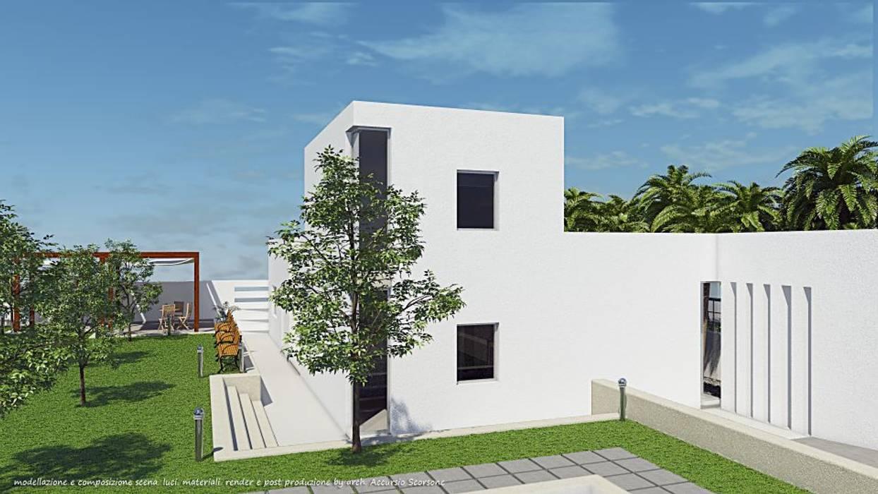 Project villa monofamiliare: Case in stile in stile Minimalista di Studio di Architettura