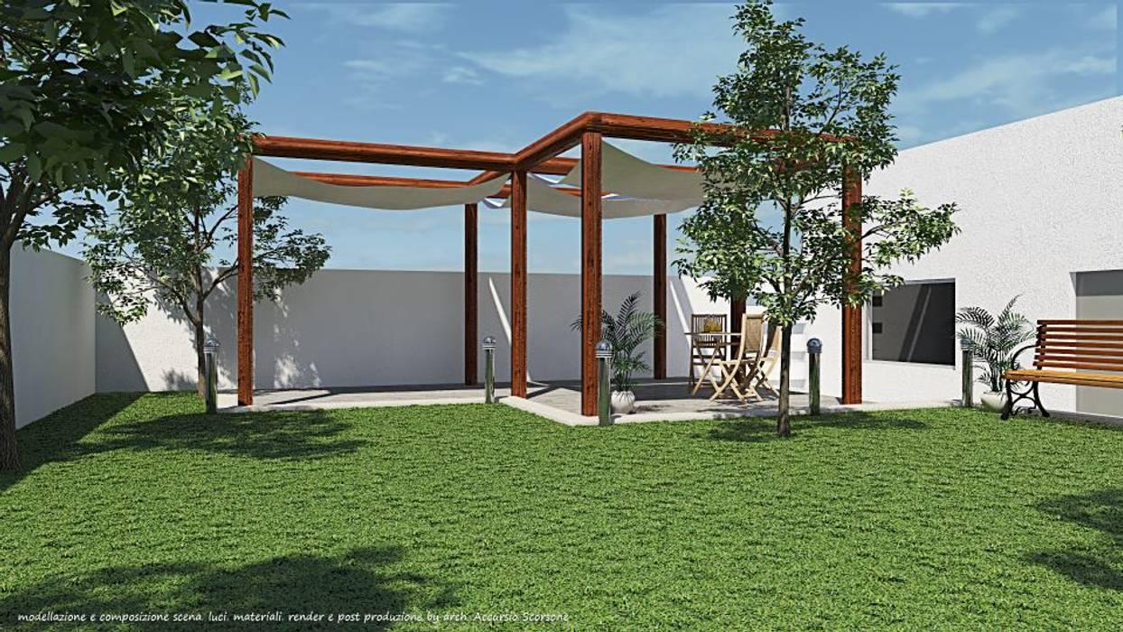 Project villa monofamiliare: Giardino in stile in stile Minimalista di Studio di Architettura
