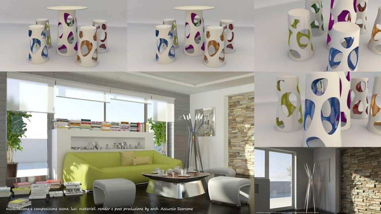Гостиная в стиле минимализм от Studio di Architettura Минимализм